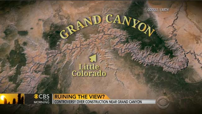 A mislabeled map of the Grand Canyon area.